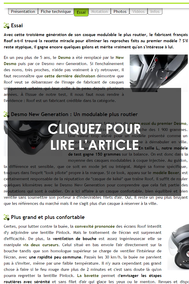 Test DESMO RO32 par Lequipement.fr